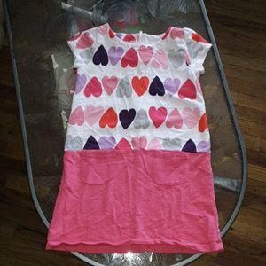 3/$18. Gymboree girls 10 pink hearts dress